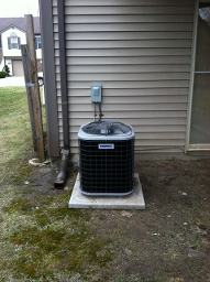 AC Unit on Concrete Pad